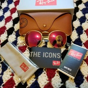 Ray-Ban Sunglasses Rb3447 Pink Gold
